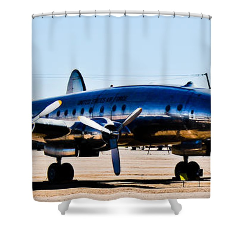 Grand Shower Curtain featuring the photograph Metal Plane by Maxime Ordureau