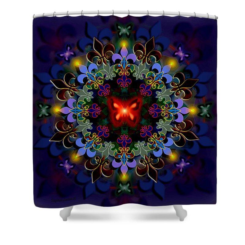 Spiritual Shower Curtain featuring the digital art Metamorphosis Dream II by Stephen Lucas