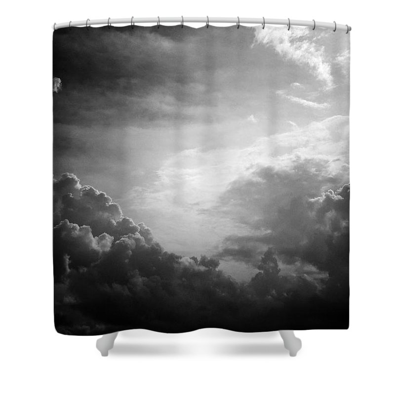 Black And White Shower Curtain featuring the photograph Metaphysics 1 by Brian Tobin