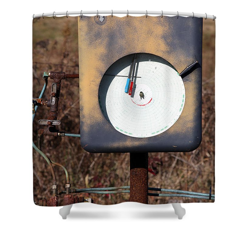 Meter Shower Curtain featuring the photograph Meter by Amanda Barcon