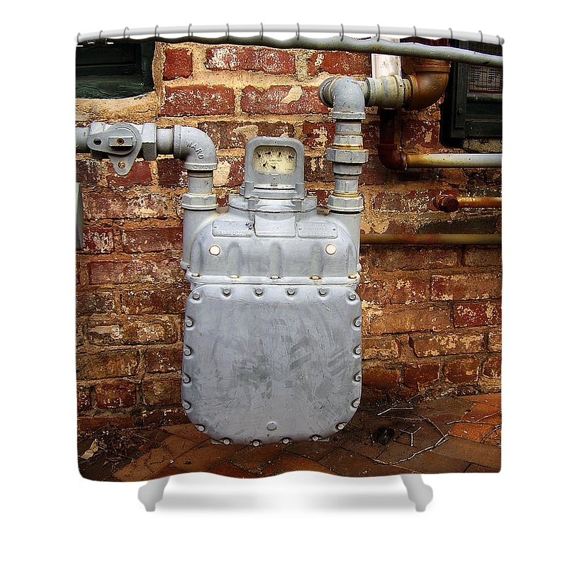 Meter Shower Curtain featuring the photograph Meter II In Athens Ga by Flavia Westerwelle