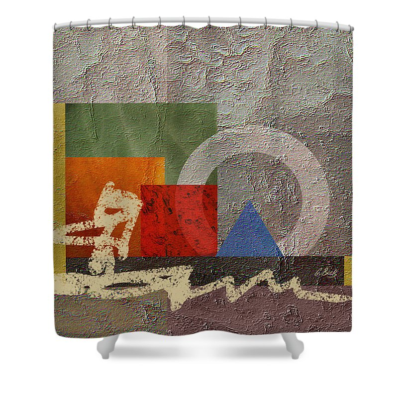 Contemporary Modern Shower Curtain featuring the painting Metro by Gordon Beck