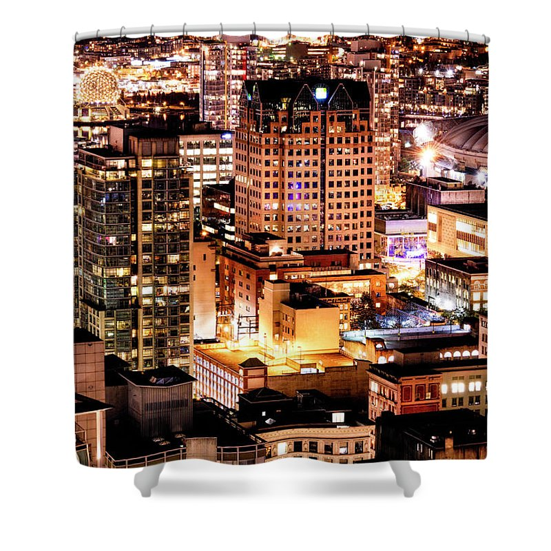 Vancouver Shower Curtain featuring the photograph Metropolis Vancouver Mdccxv by Amyn Nasser