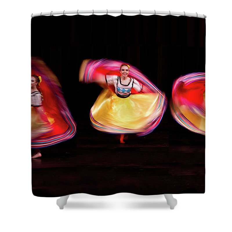 Mexican Shower Curtain featuring the photograph Mexico Ballet by Janet Chung