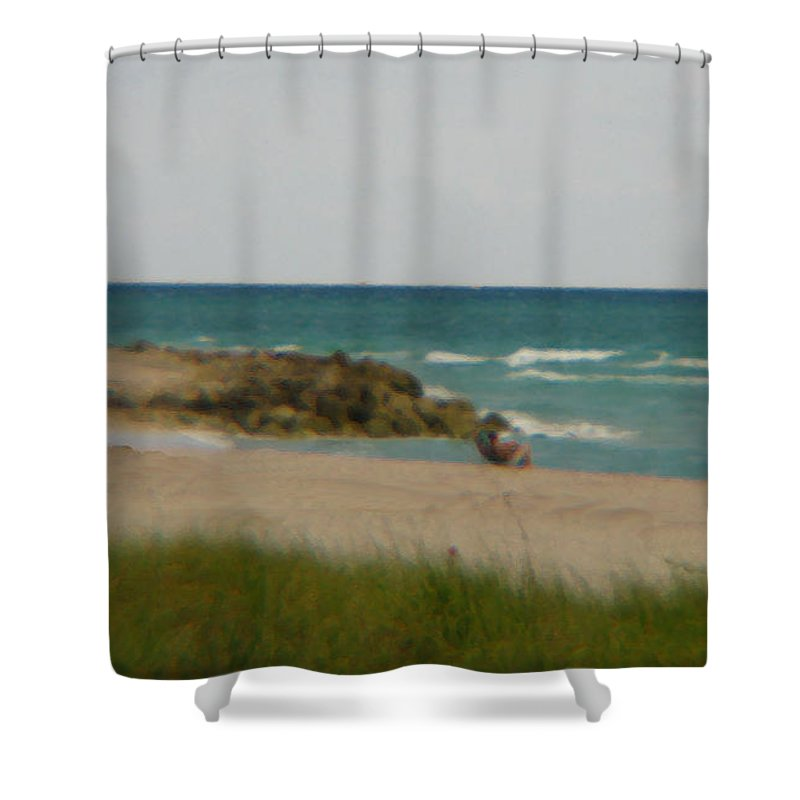 Miami Shower Curtain featuring the photograph Miami by Amanda Barcon