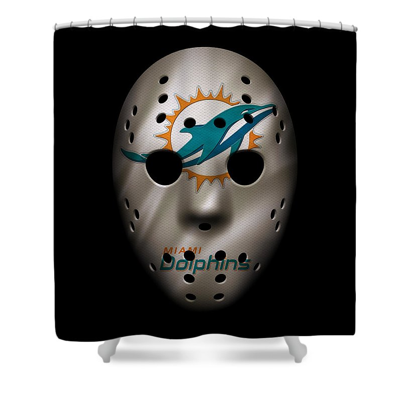Shower Curtain Mask Miami Dolphins War
