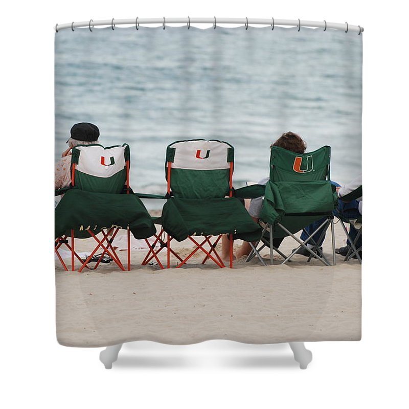 University Of Miami Shower Curtain featuring the photograph Miami Hurricane Fans by Rob Hans
