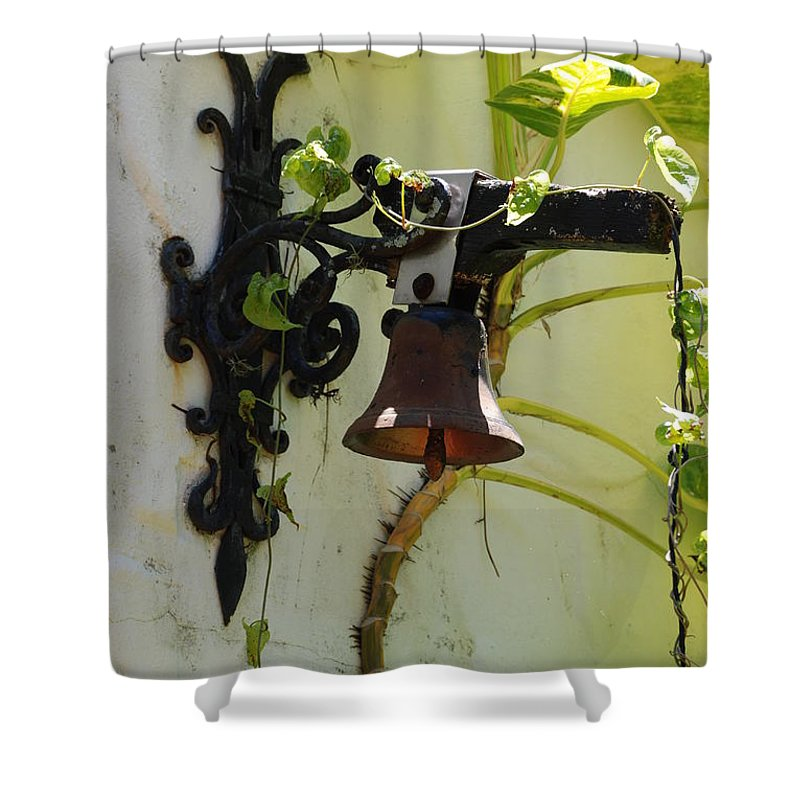 Architecture Shower Curtain featuring the photograph Miami Monastery Bell by Rob Hans