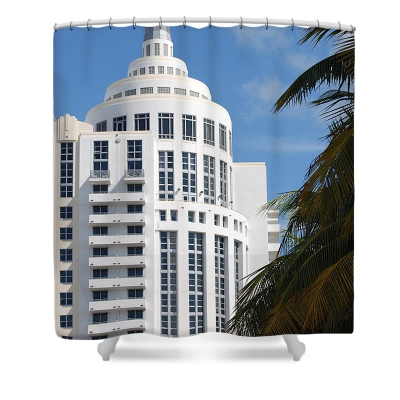 Architecture Shower Curtain featuring the photograph Miami S Capitol Building by Rob Hans