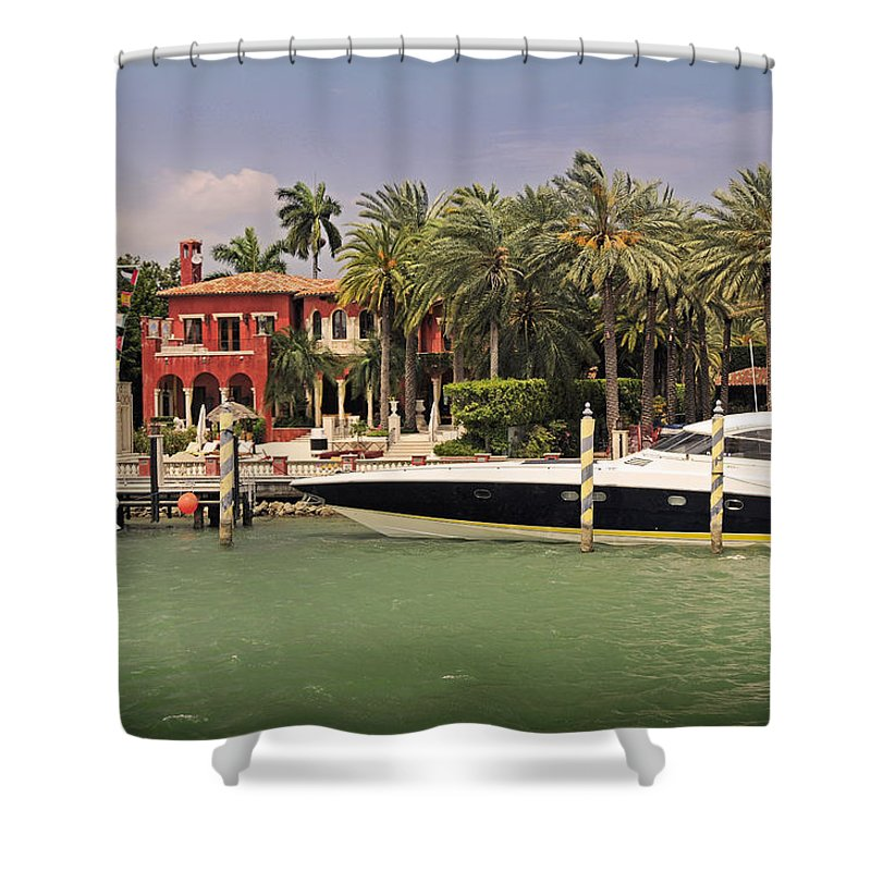 Miami Shower Curtain featuring the photograph Miami Style by Steven Sparks