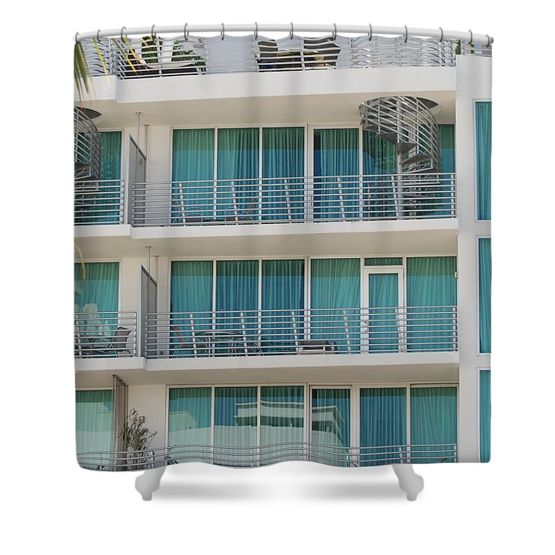 Architecture Shower Curtain featuring the photograph Miami Vice by Rob Hans