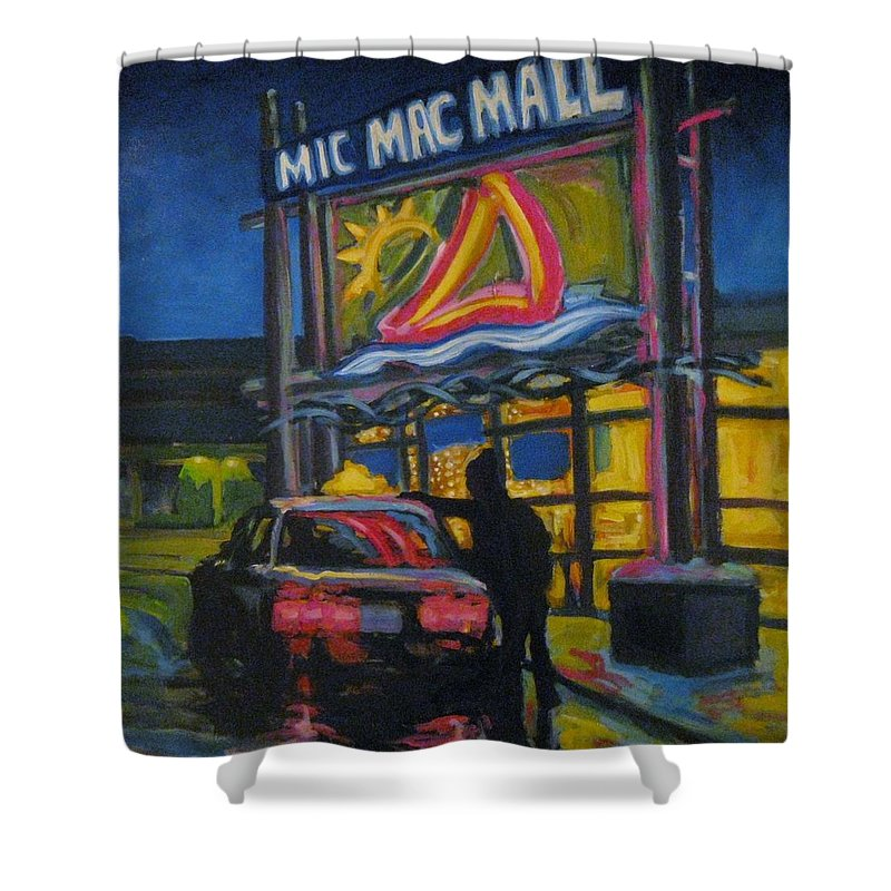 Retail Shower Curtain featuring the painting Mic Mac Mall Spectre Of The Next Great Depression by John Malone