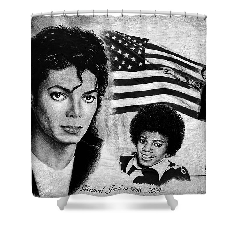 Michael Jackson Shower Curtain for Sale by Andrew Read