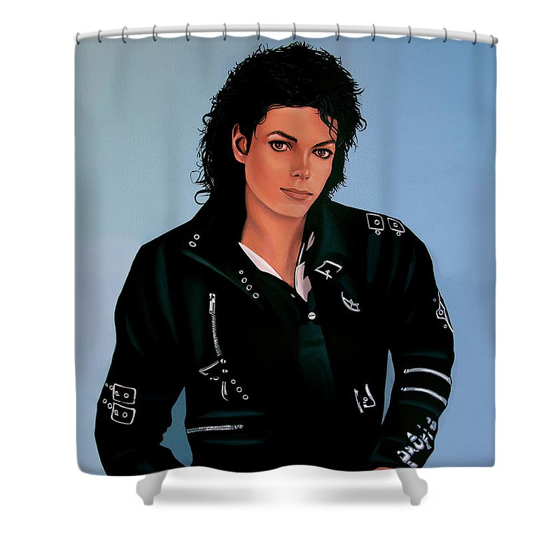 Music King Of Pop Shower Curtains