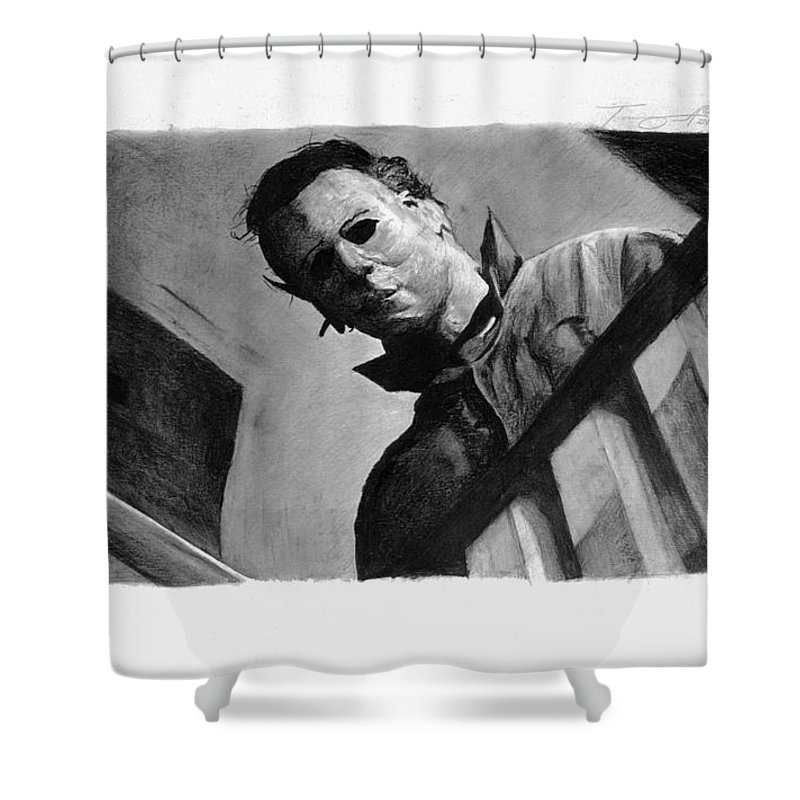 Mike Myers Shower Curtain Featuring The Drawing Michael By Tony Orcutt