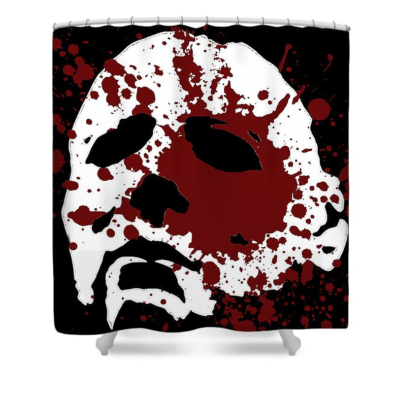 Halloween Shower Curtain Featuring The Digital Art Michael Myers