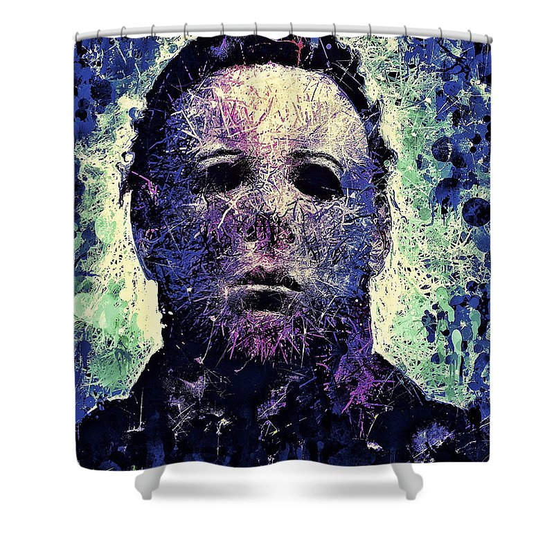 Michael Myers Shower Curtain Featuring The Digital Art By Matra