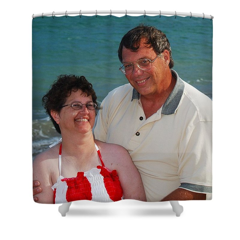 Michael Peychich Shower Curtain featuring the photograph Michael Peychich And His Sweetheart by Michael Peychich
