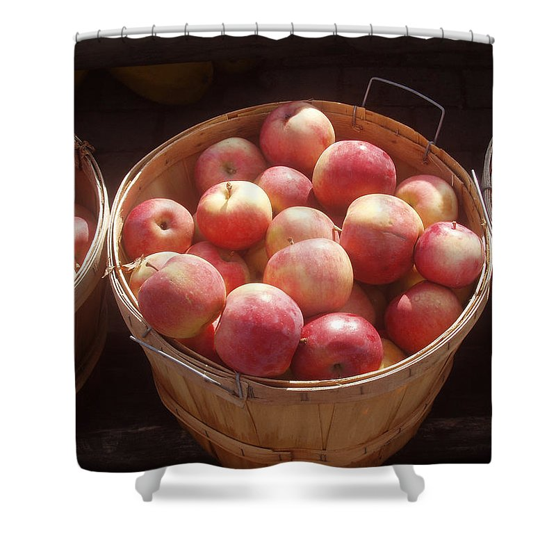 Apples Shower Curtain featuring the photograph Michigan Apples by Wayne Potrafka