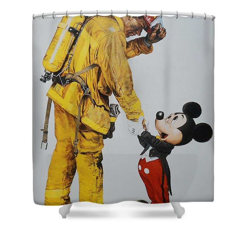 Norman Rockwell Photographs Shower Curtains
