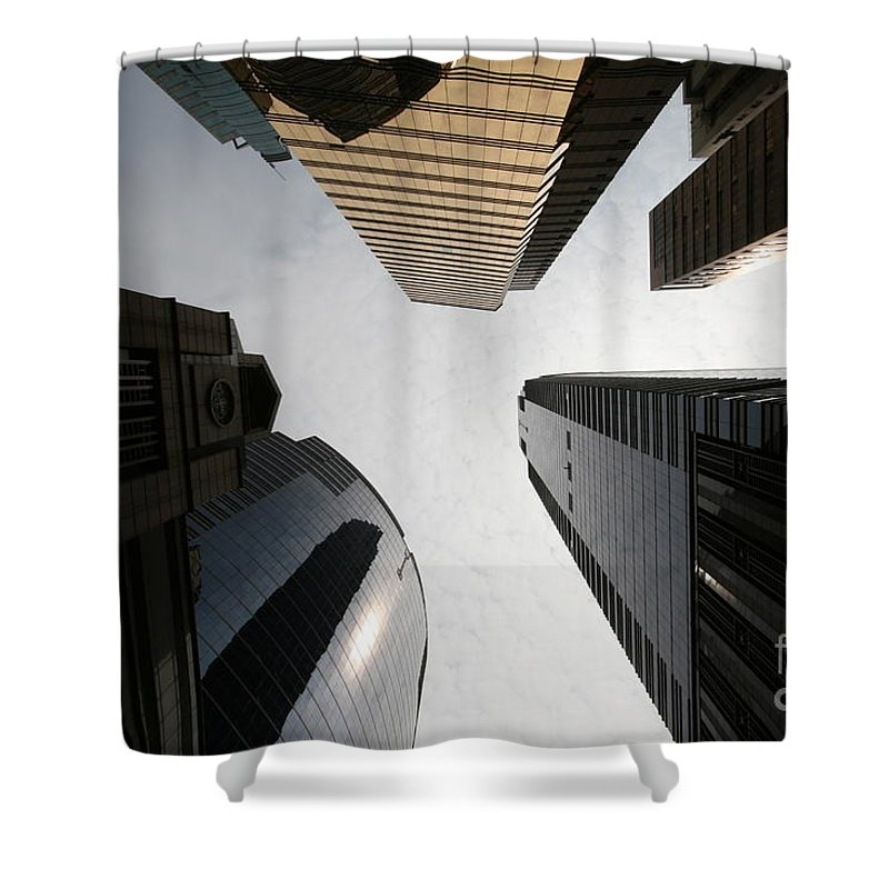 City Shower Curtain featuring the photograph Middle Of The City by William Petri