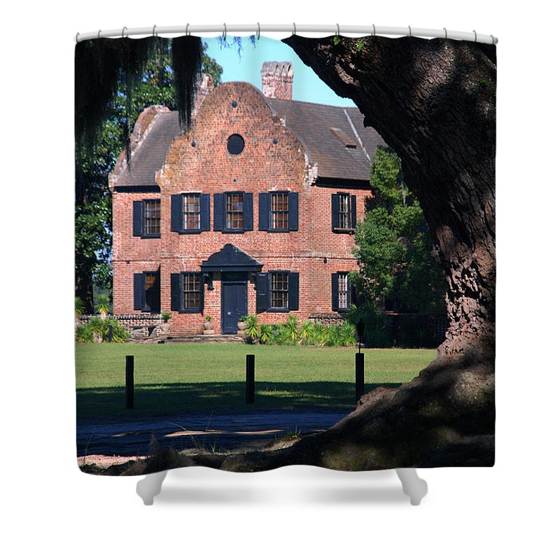 Photography Shower Curtain featuring the photograph Middleton Place Plantation House by Susanne Van Hulst
