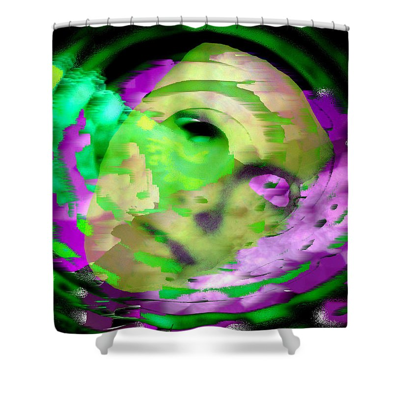 Midnight Shower Curtain featuring the digital art Midnight Mask by Seth Weaver
