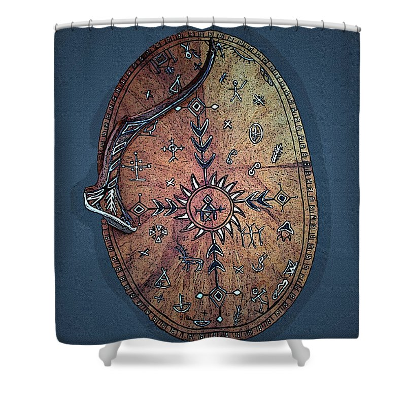 Lapland Shower Curtain featuring the photograph Midnight Sun Drum by Merja Waters