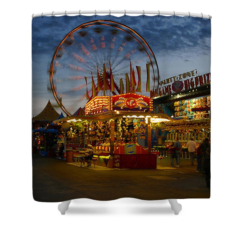 Midway Shower Curtain featuring the photograph Midway by David Lee Thompson
