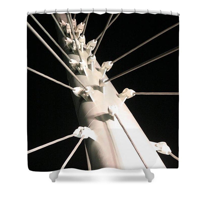 Millennium Shower Curtain featuring the photograph Millennium Bridge by Jeffery Ball