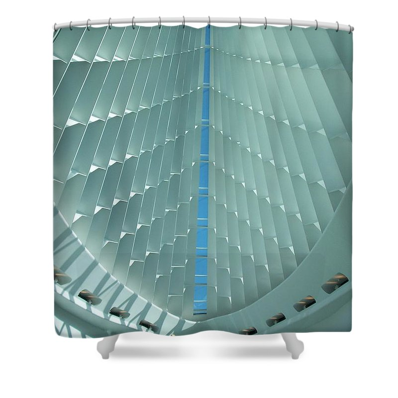 Mam Shower Curtain featuring the photograph Milwaukee Art Museum Interior by Anita Burgermeister