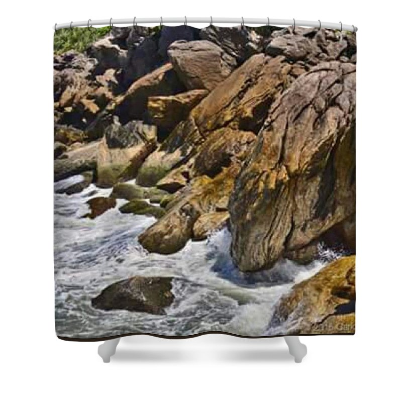 Rock Shower Curtains