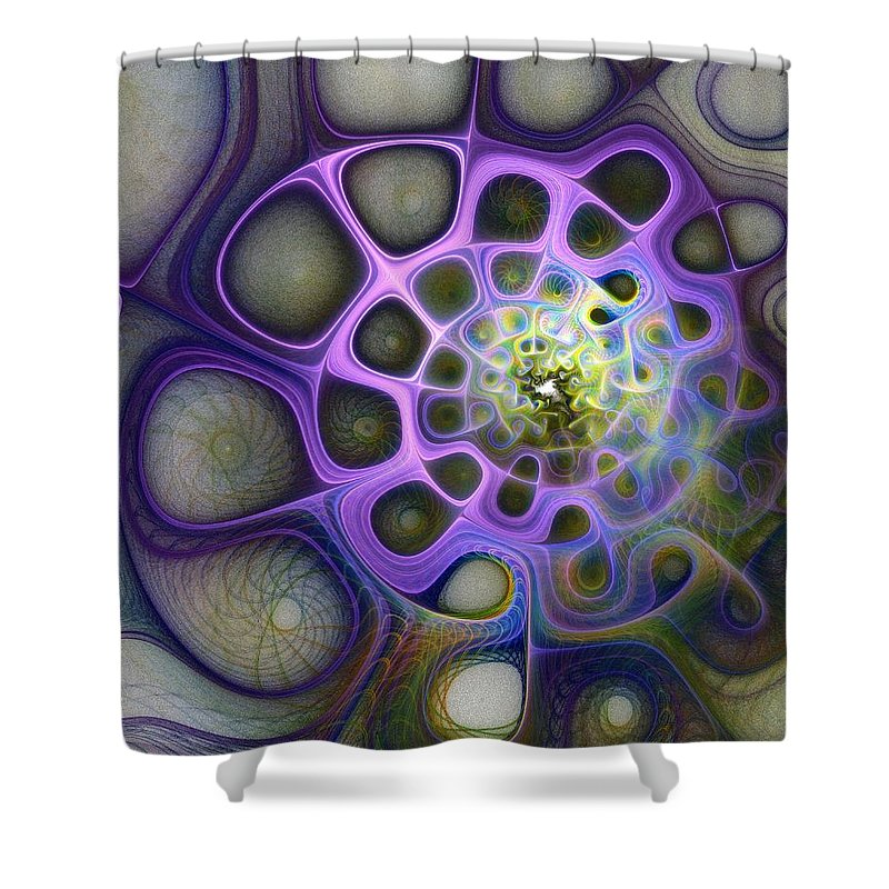 Digital Art Shower Curtain featuring the digital art Mindscapes by Amanda Moore