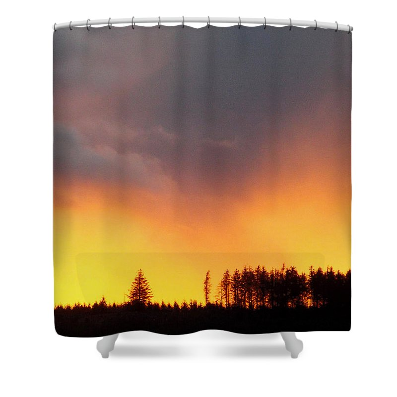 Minera Shower Curtain featuring the photograph Minera Sunset by Brainwave Pictures