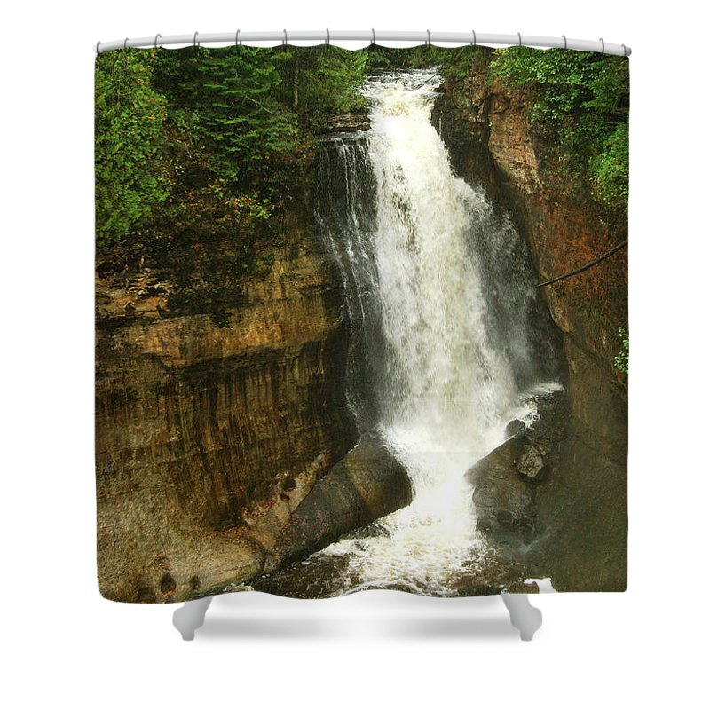 Miners Falls Shower Curtain featuring the photograph Miners Falls by Michael Peychich