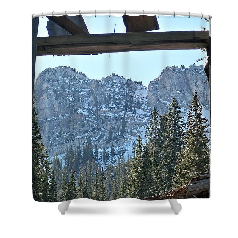 Mountain Shower Curtain featuring the photograph Miners Lost View by Michael Cuozzo