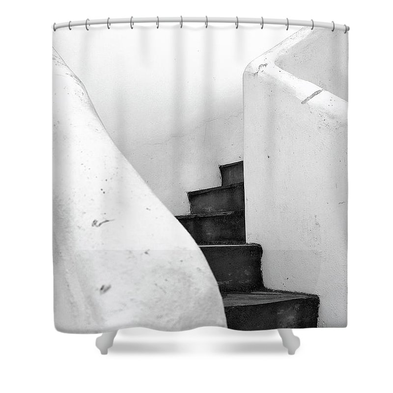 Minimal Shower Curtain featuring the photograph Minimal Staircase by PrintsProject