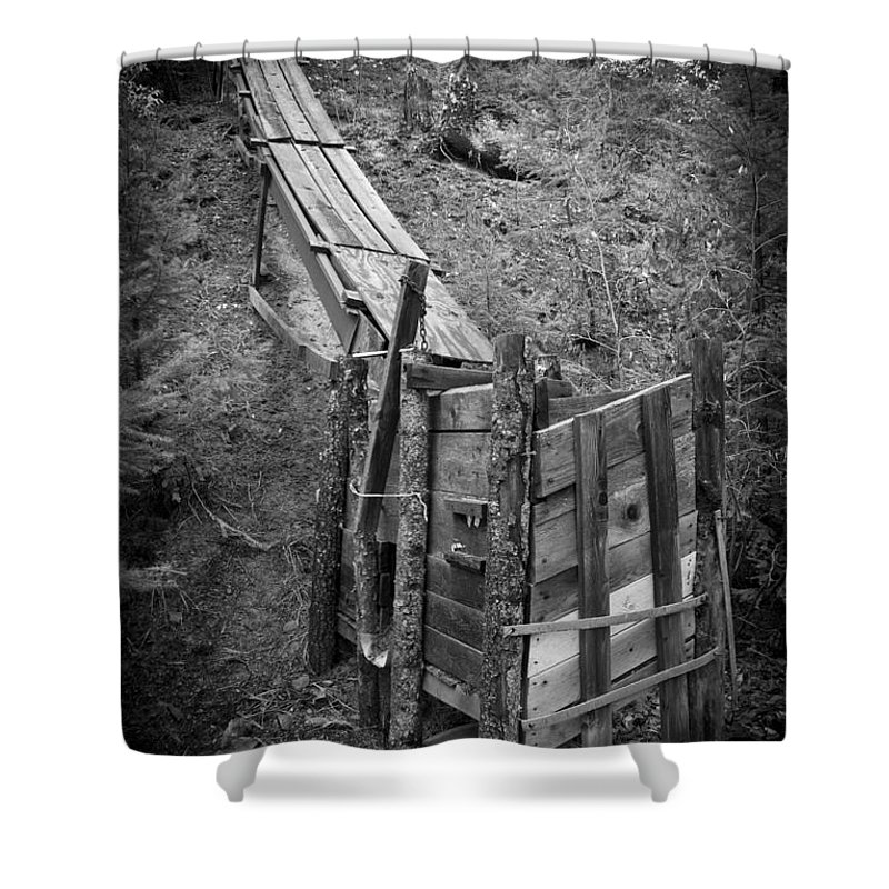 Abandoned Shower Curtain featuring the photograph Mining History - Ore Shoot by Daniel Brunner