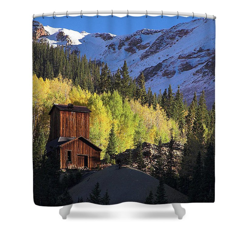 Colorado Shower Curtain featuring the photograph Mining Ruins by Steve Stuller