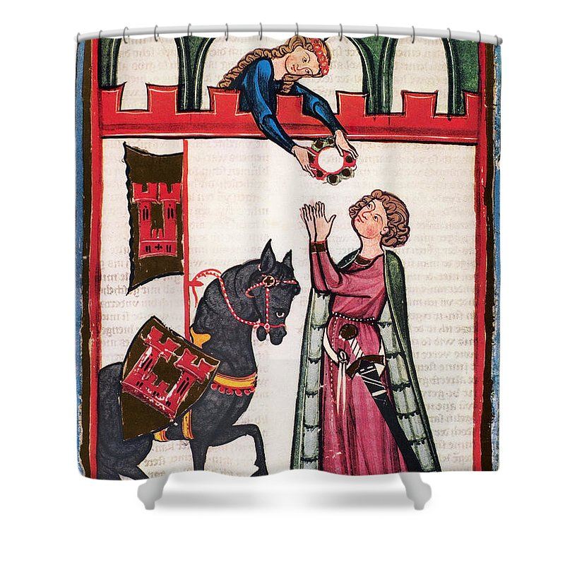 14th Century Shower Curtain featuring the photograph Minnesinger Lieder by Granger