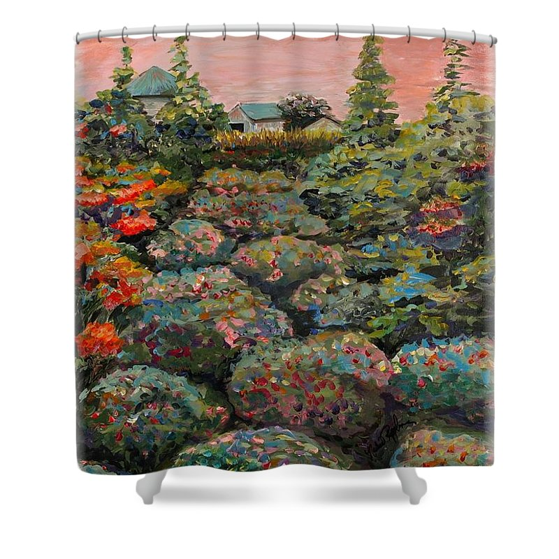 Minnesota Shower Curtain featuring the painting Minnesota Memories by Nadine Rippelmeyer