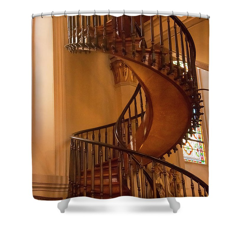 Miraculous Staircase Shower Curtain featuring the photograph Miraculous Staircase by Bob Phillips