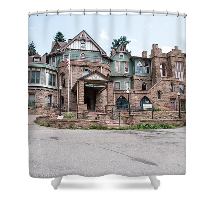 Miramont Castle In Maniton Springs Colorado. Shower Curtain featuring the photograph Miramont Castle by Tonja Whittier