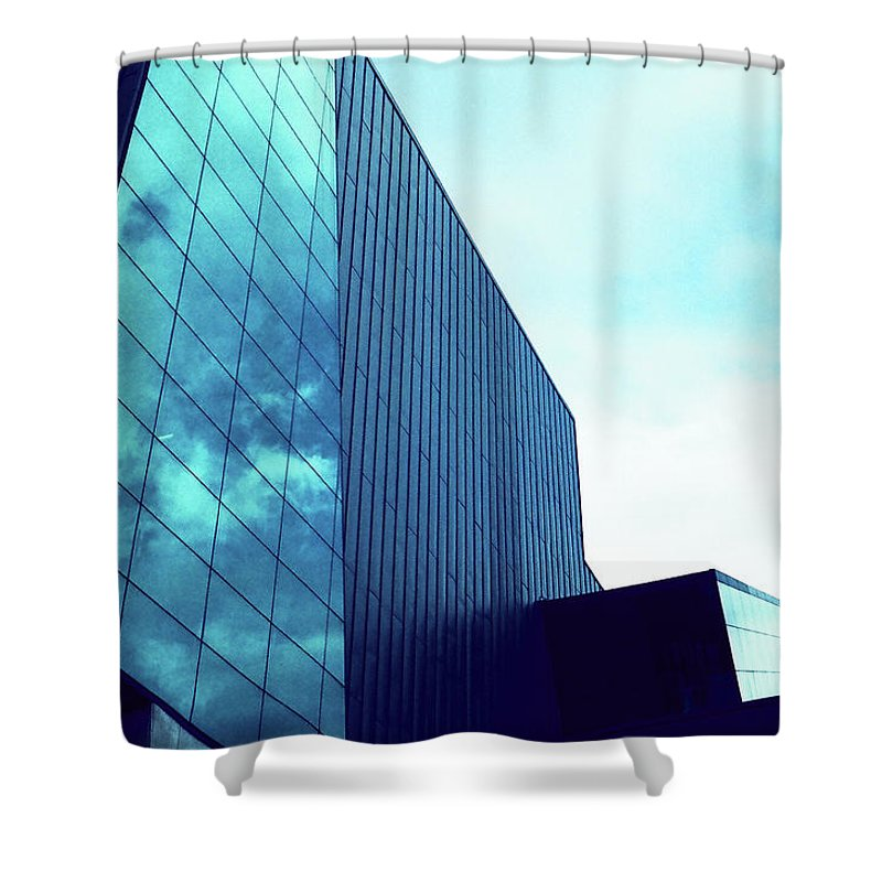 Mirror Shower Curtain featuring the photograph Mirror Building 1 by Nacho Vega