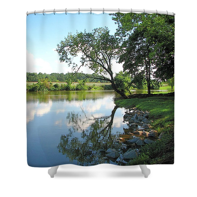Landscape Shower Curtain featuring the photograph Mirror Image by Todd Blanchard