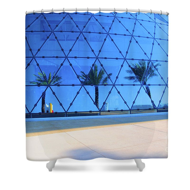 Building Shower Curtain featuring the photograph Mirror Of Palms by Jost Houk