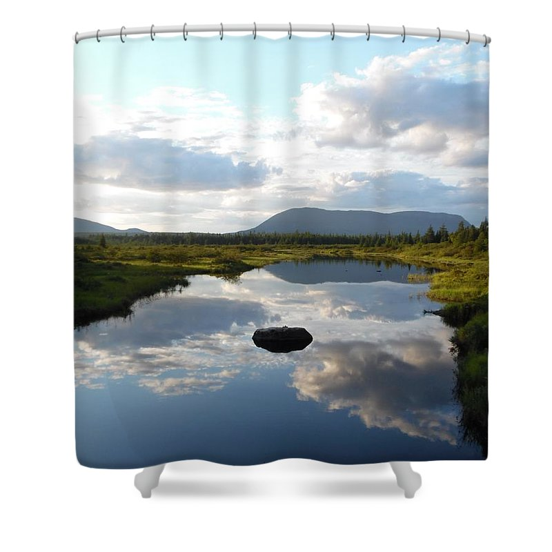 Pond Shower Curtain featuring the photograph Mirrors by Julie Houle