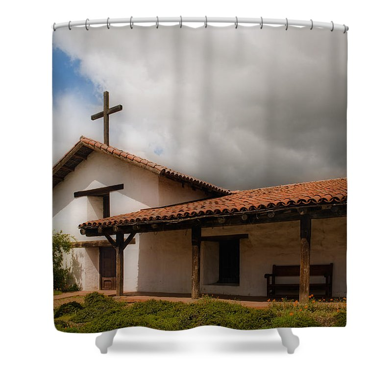 Mission Shower Curtain featuring the photograph Mission San Francisco De Solano by Mick Burkey