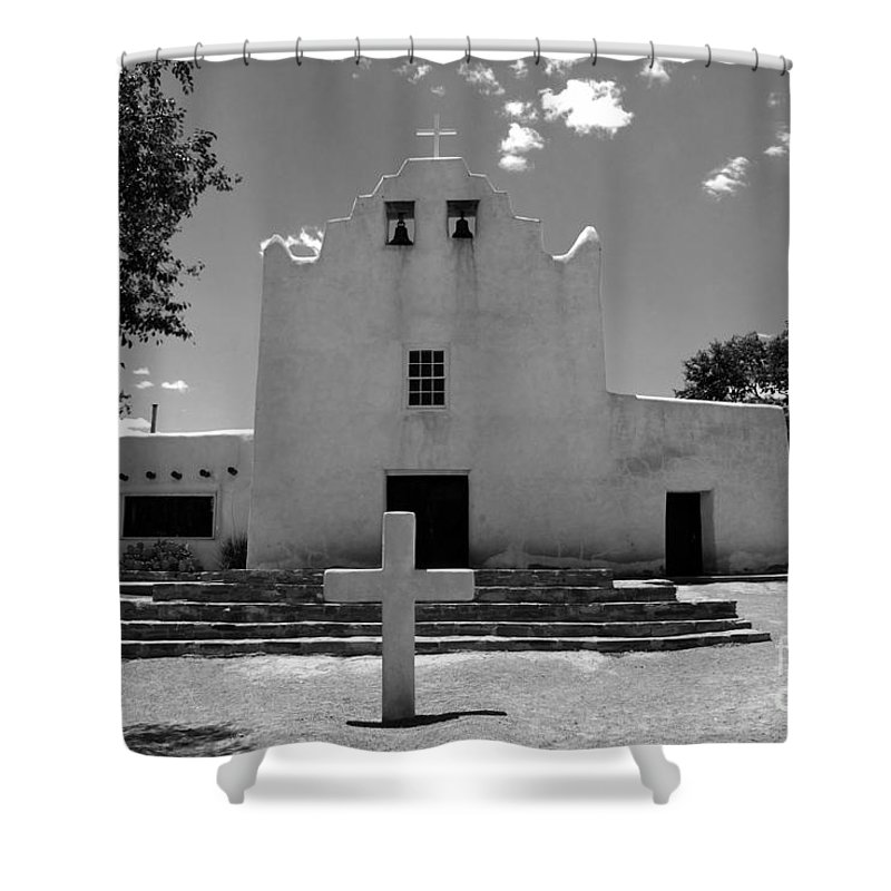 Mission San Jose Shower Curtain featuring the photograph Mission San Jose by David Lee Thompson