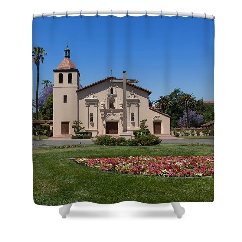 Mission Santa Clara De Asis Shower Curtain featuring the photograph Mission Santa Clara De Asis by Mountain Dreams